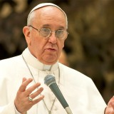 Papst Franziskus nach seinem Faux-pas