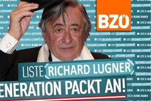"""Das eilig bereitgestellte """"Liste Richard Lugner-Sujet"""". Laut Gerald Grosz nur ein schneller Entwurf."""