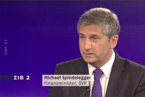 Michael Spindelegger bei ORF-Generalinquisitor Armin Wolf in der ZIB2