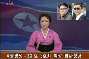 Das nordkoreanische Staats-TV zeigt Bilder, die belegen sollen, dass Kim Jong-un und Psy ein und die selbe Person seien