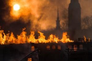Wien. Ein Raub der Flammen. Mehr als eine Million Menschen auf der Flucht.